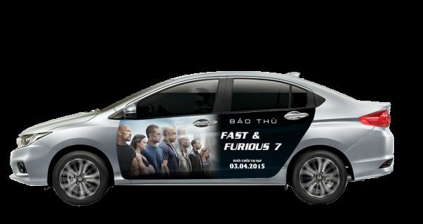 """""""Chất phát ngất"""" cùng quảng cáo trên xe hơi của """"Fast&Furious 7"""""""