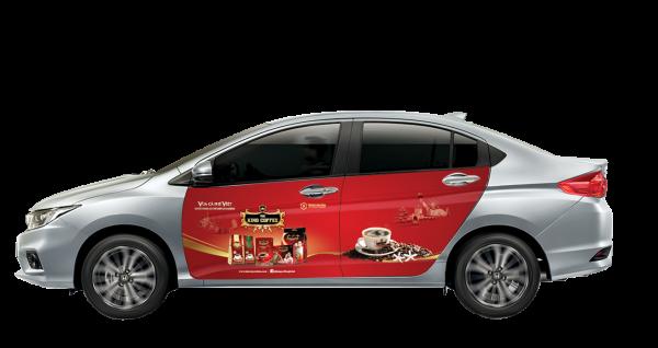 """Quảng cáo trên xe ô tô cá nhân cho """"Vua cà phê Việt"""" – Trung Nguyên"""