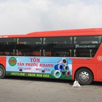 Quảng cáo trên xe Phương Trang