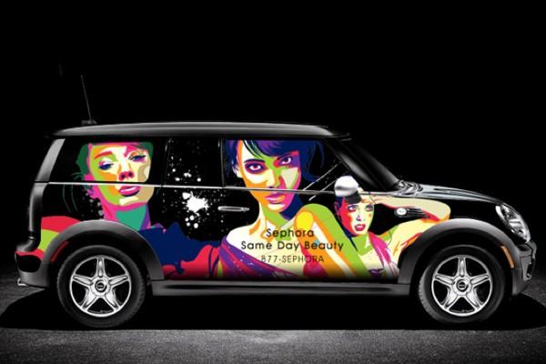 Những mẫu quảng cáo trên xe ô tô ấn tượng (Phần 2)