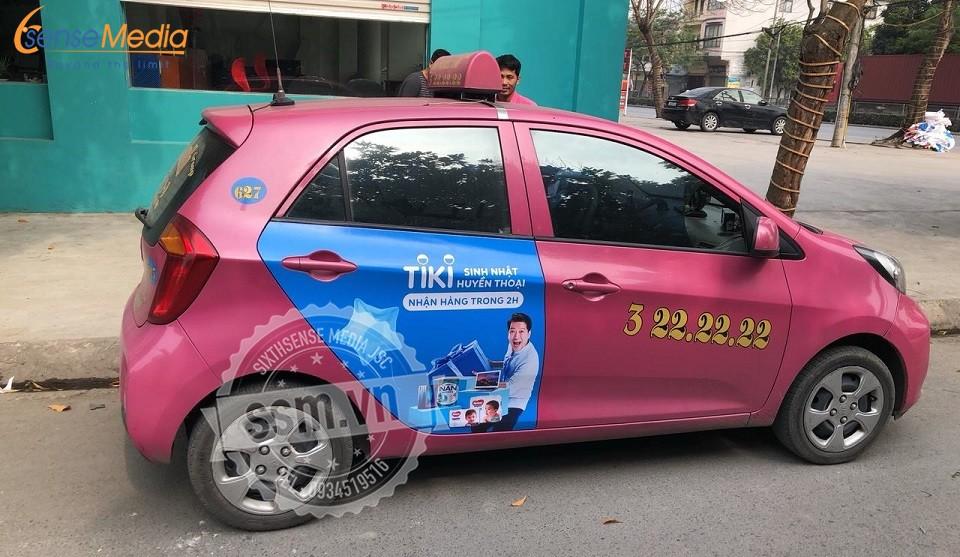 quảng cáo taxi hoàng anh