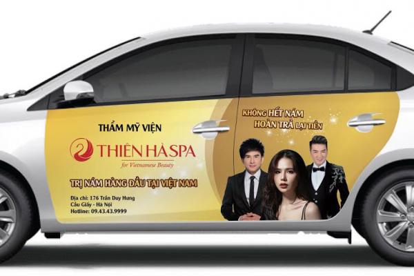 Dán quảng cáo trên ô tô tại Hà Nội chuyên nghiệp, chất lượng cao