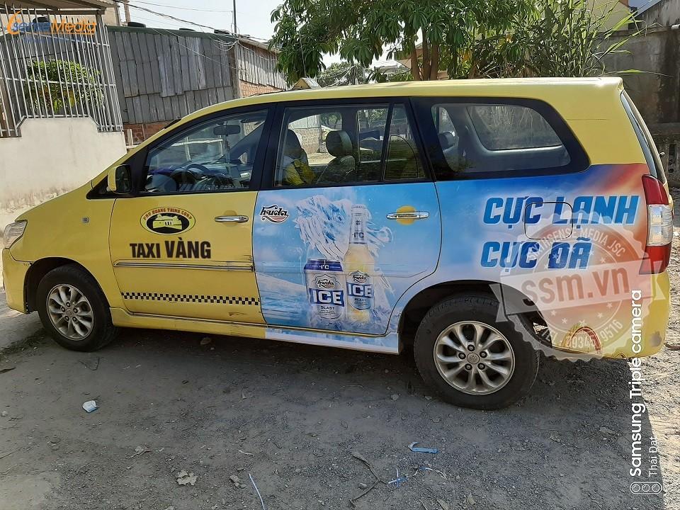quảng cáo taxi Vàng tại Huế