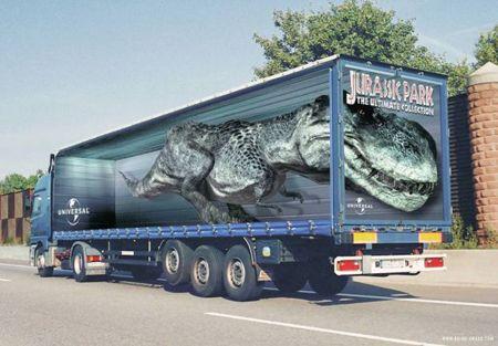 Những thiết kế quảng cáo xe tải 3D siêu ấn tượng
