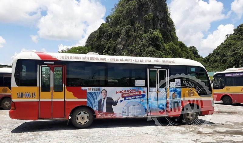 quảng cáo xe buýt ở Quảng Ninh