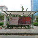 quảng cáo tại trạm xe bus Hà Nội