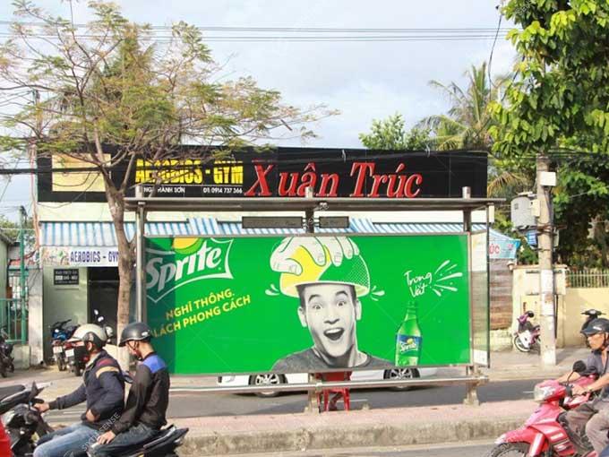 quảng cáo nhà chờ xe bus taị Đà Nẵng