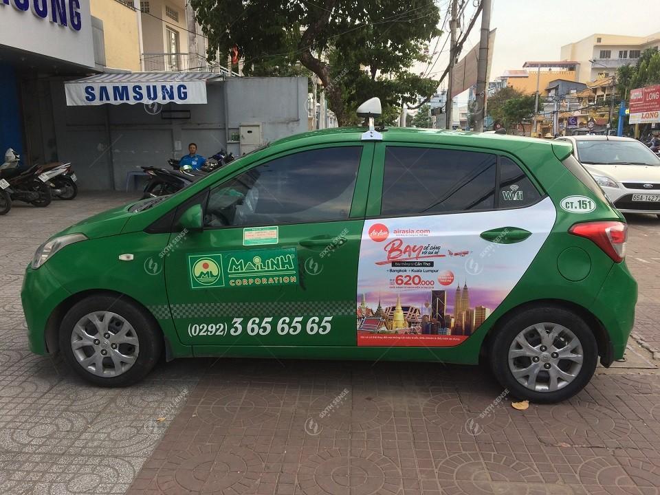 quảng cáo taxi ở Bắc Giang