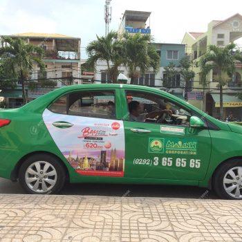 quảng cáo xe taxi ở Bắc Giang