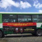 quảng cáo xe buýt ở Cà Mau