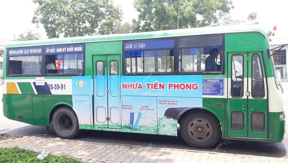 quảng cáo xe buýt ở Tiền Giang
