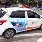 quảng cáo trên taxi ở Quảng Nam
