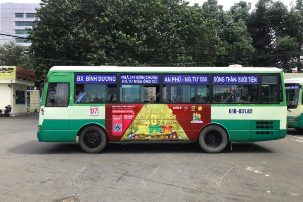 Quảng cáo xe buýt ở Bình Dương gia tăng độ phủ thương hiệu