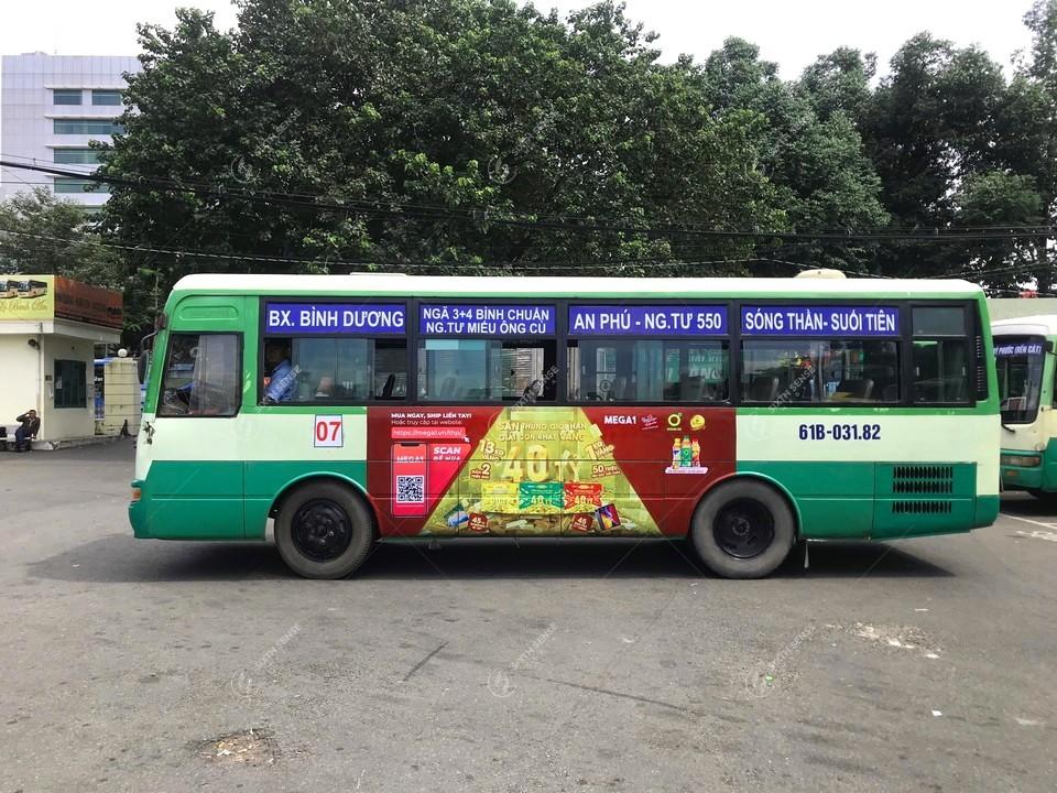 quảng cáo xe buýt ở Bình Dương