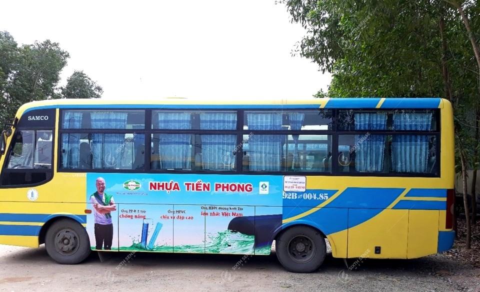quảng cáo trên xe bus tại Quảng Nam